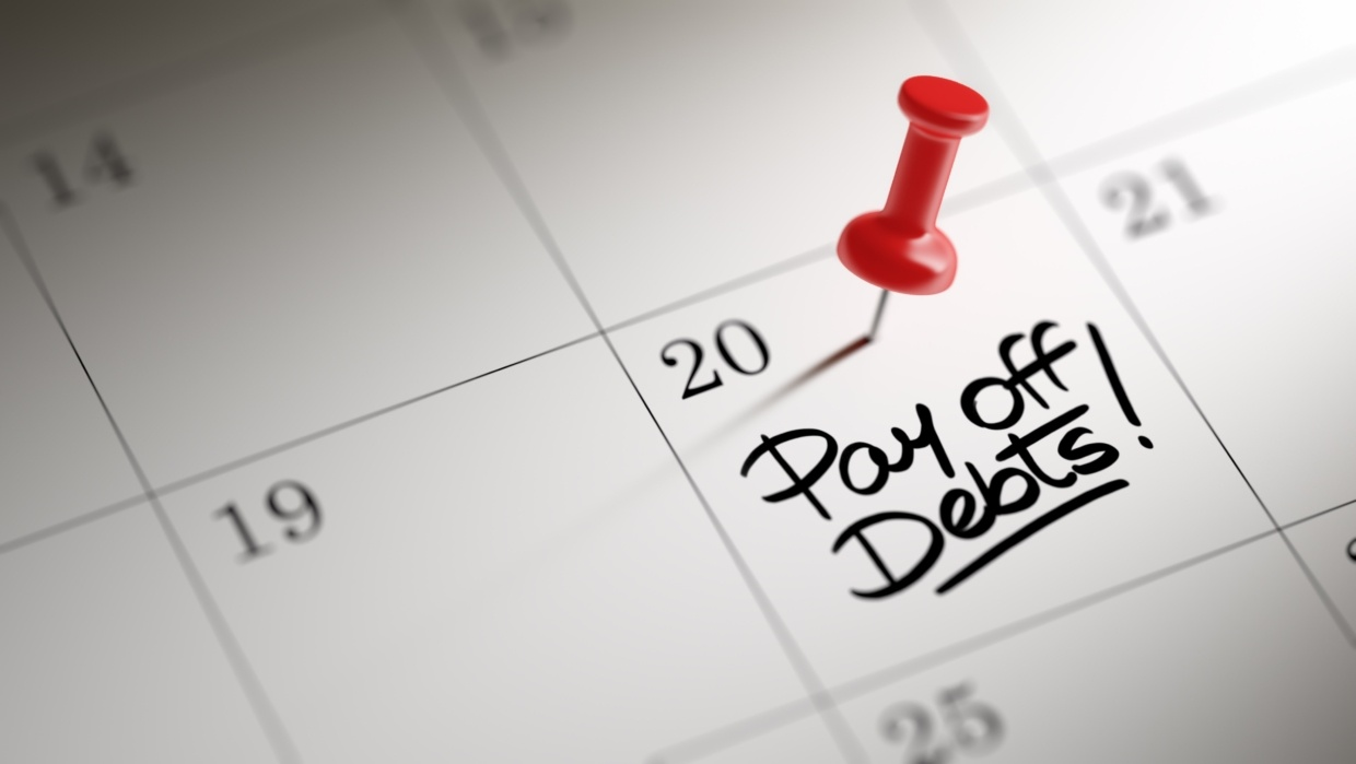calendar with pay off debt date