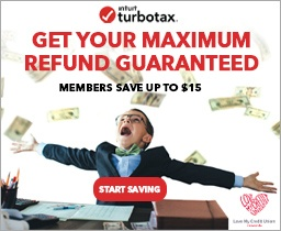 turbotax member discount banner ad